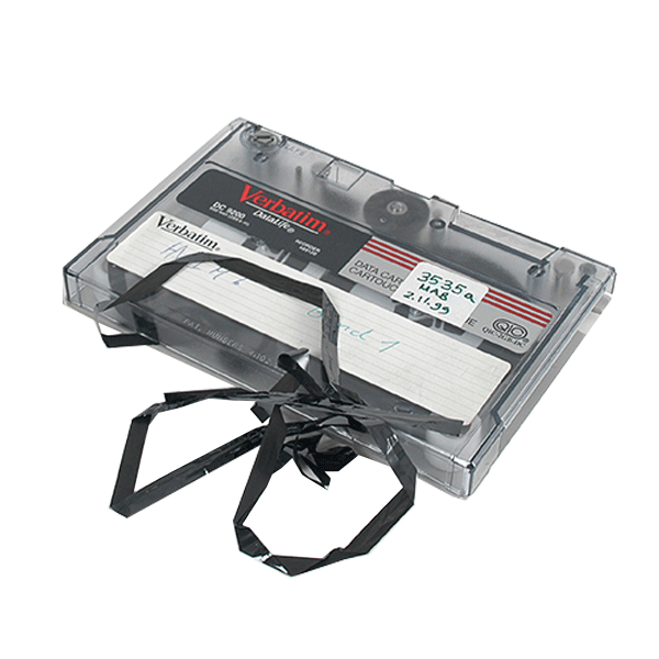 Magnetic tape backup requiring Ontrack tape services