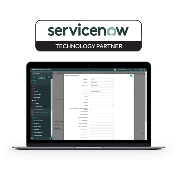 Ontrack ServiceNow App